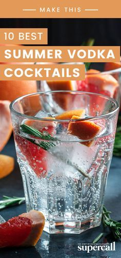 Here are the 10 best summer vodka cocktails to enjoy this season. Some are strong while others are light, but all are ready for the warmest months of the year. Drinks 14 Vodka Cocktails That Are Perfect for Summer Best Vodka Cocktails, The Best Vodka, Refreshing Summer Cocktails, Cocktail Drinks, Vodka Summer Drinks, Drinks With Vodka, Best Summer Drinks, Martinis, Cocktail Recipes With Vodka