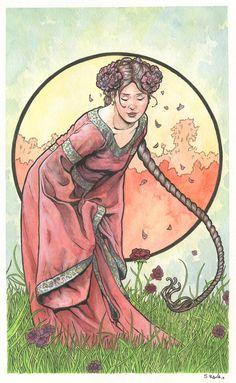 Art Nouveau (-stijl) Vrouw ~Scott Christian Sava~