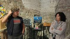 1.06.2016. Visita alla mostra del Liceo artistico Stagi in Sala Grasce dell'artista Helidon Xhixha accompagnato dal Sindaco di Pietrasanta.