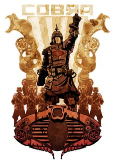 Brian Kesinger – Steampunk Heroes, G. I. Joe: Cobra Commander || Follow here http://pinterest.com/cakespinyoface/geekery-star-wars/ for even more Star Wars Geekery-- original art, tech, gadgets, and more!