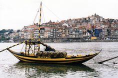 """* Barco Rabelo *  """"Rio Douro"""".  Porto, Portugal."""