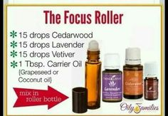 Focus roller! Rub this in your kiddos after shower, before school and they will be focus all day.