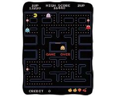 Looking for Pac-man Micro Fleece Blanket ? Check out our picks for the Pac-man Micro Fleece Blanket from the popular stores - all in one. Pac Man, Game Over Screen, Mundo Dos Games, Man Games, Classic Video Games, Pillow Room, Fleece Throw, Retro, Game Room