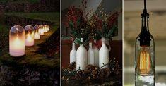 25  Ideas Creativas para Reciclar Botellas de Vino Para Decorar El Otoño - http://www.casayjardin.org/25-ideas-creativas-reciclar-botellas-vino-decorar-otono/