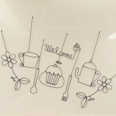 いいね!29件、コメント3件 ― naru'PEさん(@naru.pe)のInstagramアカウント: 「【ワイヤークラフト/ガーランド】 ①花とツタ ②カップ ③スプーン ④Welcome(葉)+カップケーキ ⑤フォーク ⑥ポット ⑦花とツタ #ワイヤークラフト #ガーランド #ティータイム…」