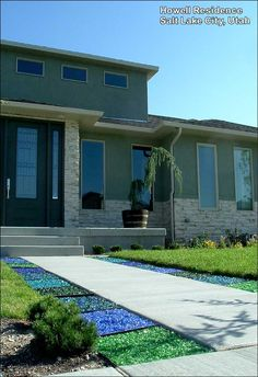 landscape glass design | Copyright © 2010 American Specialty Glass. All Rights Reserved Landscape Glass, Fire Glass, Glass Design, American, Garden Design, Photo Galleries, Landscaping, Mansions, House Styles