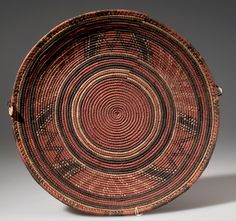 Africa   Basketry cover from the Hausa people of Nigeria   Plant fiber and dye   ca. prior to 1949.