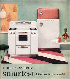 1954 Tappan Gas Range & Servel Gas Refrigerator
