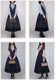 Vintage Jewelry in Sunrise -Christmas Concerto- Vintage Lolita Blouse - Lolita Fashion, Look Fashion, Fashion Outfits, Fashion Trends, Pretty Outfits, Pretty Dresses, Cool Outfits, Victorian Fashion, Vintage Fashion