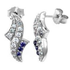 Exxotic festive collection 925 sterling silver amethyst and lavender color american diamond earring