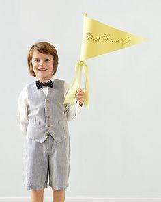 job for my army of flower girls beyond the ceremony - give them flags/banners to announce all the key stages of the reception