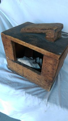 Antique Hand Made Shoe Shine Box w/ accessories by VintageRelics802 on Etsy
