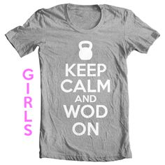Keep calm and WOD on. #crossfit