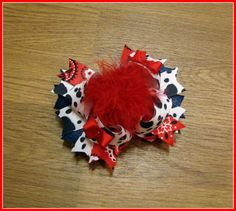 Country Girl, Cow Print, Red Bandana boutique bow