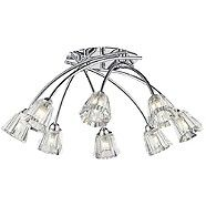 Litecraft Alberta 8 light crossover flush Chrome ceiling light- | Debenhams