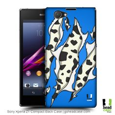 Head Case Designs Cow Animal Ripped Prints Hard Back Case for Sony Xperia Z1 Compact D5503