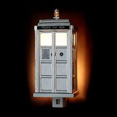 TARDIS Night Light Limited-Edition Chrome Version---wouldn't it be hilarious to have one TARDIS lamp on either side of the front door?! You'd proudly share your love of the Doctor with everyone!