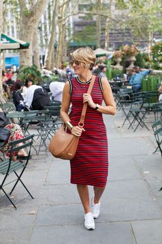 dress (Joe Fresh UNDER $20), sneaks (Nike), bag (Gigi New York), shades (Ray Ban), watch (Cartier), cuff (BCBG), rings (Anna Beck, BCBG), necklace (Dogeared) Sported these Stripes while in NYC and for the price tag (only $20), you most definitely can't beat it. So much so, I may have bought two. Maybe. It's one of those that feels …
