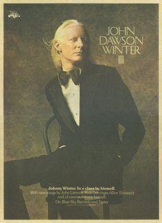 Johnny Winter - AKA John Dawson Winter III (February 23, 1944 – July 16, 2014) Beaumont, Texas ♥ God Bless You Johnny!