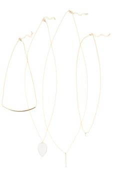 This set for four delicate pendants are prefect for layering