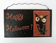 Deko Halloween - OktoberNacht Halloween - ein Designerstück von Un-Art-Tick bei DaWanda