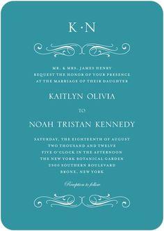 wedding paper divas. swirling wings