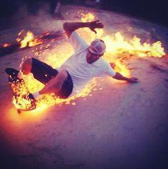 He's on fire!!!!! - http://skateboardlifestyle.com
