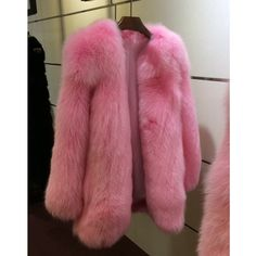 Stay warm while looking like you walked off the runway with this statement fur coat. Made of fox fur. Pink Fur Coat, Fox Fur Coat, Colorful Fur Coat, Cheap Coats, Fur Clothing, Coat Stands, Stay Warm, Parka, Street Style