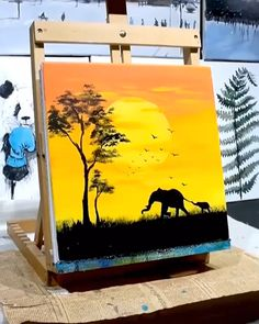 Diy canvas art 377035800057710449 - It's a fun and easy way to make your own custom wall art. And, it's so cheap. Here are the DIY landscape paint step by step, products used, and full videos to help you make your own Source by Simple Canvas Paintings, Small Canvas Art, Mini Canvas Art, Easy Canvas Art, Diy Canvas, Easy Wall Art, Cute Easy Paintings, Amazing Paintings, Cheap Paintings