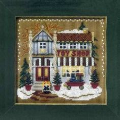 Toy Shop Beaded Cross Stitch Kit Mill Hill 2006 Buttons & Beads Winter - $10.99