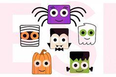 Halloween Square Heads Character Design Set from DesignBundles.net