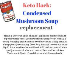 Keto cream of mushroom soup Keto Mushrooms, How To Cook Mushrooms, Creamed Mushrooms, Stuffed Mushrooms, Ketogenic Diet Starting, Ketogenic Diet Food List, Ketogenic Diet For Beginners, Cream Soup, Cream Of Chicken Soup