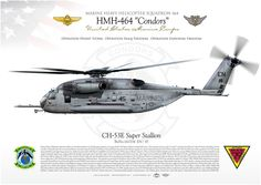 "UNITED STATES MARINE CORPS MARINE HEAVY HELICOPTER SQUADRON 464 (HMH-464) ""Condors"" MARINE AIR GROUP 29. MCAS New River, NC"