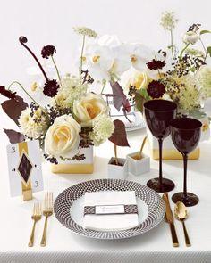 chocolate theme?  candy truffles on styro ball= center piece Martha Stewart Weddings