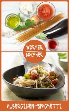 http://eatsmarter.de/rezepte/auberginen-spaghetti Pasta schmeckt immer, erst recht wenn Sie mit Aubergine ergänzt wird.