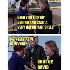 HAHAHA. This has always bugged me! I know that it was explained that Rumple made that up because he didn't want Belle to be with him when he went off to his death, but still... I'm always like... NO ONE EVER INCLUDES BELLE. ha ha