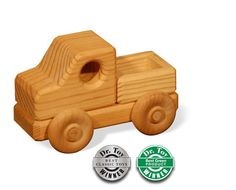 """Little Toys for Little Hands Pickup      Designed to fit perfectly in a little hand, the """"Little Toys for Little Hands"""" Pickup is ready to pickup and deliver a lot of fun!       Made from 100% sustainably-harvested northern pine, these toys have been age-approved and CPSIA certified for ages 0+. Made in USA."""