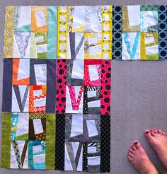 LOVE quilt blocks! Scrap studio via Flickr