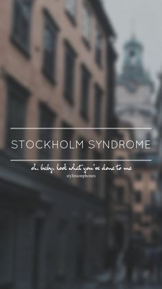 Stockholm Syndrome // One Direction // ctto: @stylinsonphones (on Twitter)