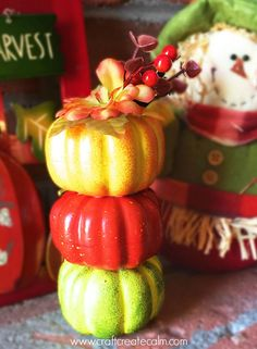 Pumpkin topiary craft supplies from the dollar store and craft takes less than 5 minutes! Make a beautiful diy fall centerpiece. Thanksgiving Home Decorations, Thanksgiving Projects, Harvest Decorations, Thanksgiving Centerpieces, Fall Home Decor, Autumn Home, Holiday Decor, Pumpkin Topiary, Diy House Projects