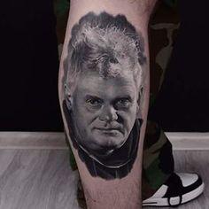 Done by @karolrybakowski #portret#portrait#blackandgrey#tattoo #kazikstaszewski