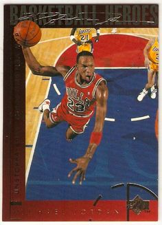 1994+Upper+Deck+Michael+Jordan+Hero+#40+Basketball++Card,cards