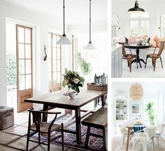 Casual dining room inspiration for our beach house