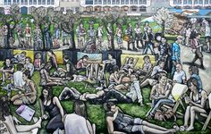 Matt Wilde - Core Blimey [ARTZU Art Gallery] Great memories of our fabulous summer in Manchester's Spinningfields in this painting! http://www.artzu.co.uk/artist/matt-wilde/core-blimey/