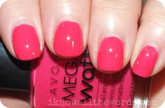 Avon Mega Watt Nail Polish- Pop  Neon Pink.  www.youravon.com/mkeller0001