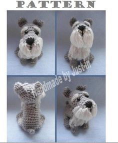 PATTERN ONLY Schnauzer Crochet PDF instructions por cuteandkaboodle