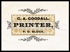 G.A. Goodall letterhead, (collection of Joe Freedman)