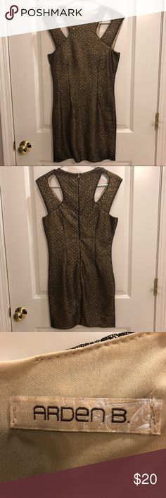 Arden B Gold Dress Perfect dress for NYE or a birthday celebration! Arden B Dresses Mini