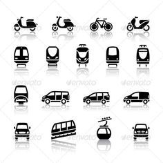 16 Transport Icons — Photoshop PSD #pictogram #vehicle • Available here → https://graphicriver.net/item/16-transport-icons/4275808?ref=pxcr