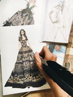 54 Trendy Ideas For Fashion Art Illustration Glamour Inspiration Fashion Illustration Sketches, Illustration Mode, Fashion Sketches, Illustrations, Top Model Fashion, Trendy Fashion, Fashion Art, Dress Design Sketches, Fashion Design Drawings